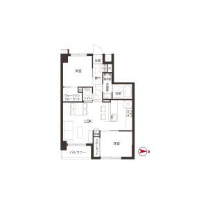 2LDK {building type} in Shirokane - Minato-ku Floorplan