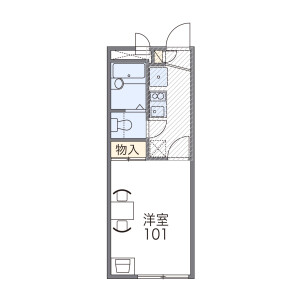 1K Mansion in Fukaeminami - Osaka-shi Higashinari-ku Floorplan