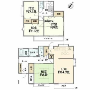 4LDK {building type} in Hiradocho - Yokohama-shi Totsuka-ku Floorplan