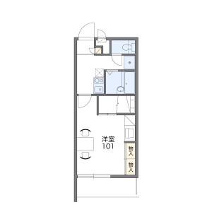 1K Mansion in Fujikata - Tsu-shi Floorplan