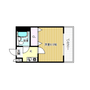 1K Mansion in Fukushima - Osaka-shi Fukushima-ku Floorplan