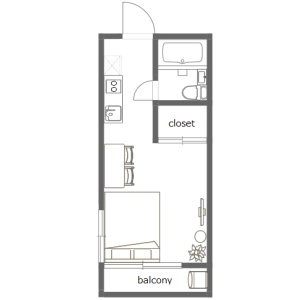 1R Apartment in Nishiikebukuro - Toshima-ku Floorplan