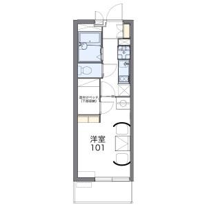 1K Mansion in Katagihara hakaridanicho - Kyoto-shi Nishikyo-ku Floorplan