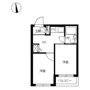 2K Mansion in Nishiaraihoncho - Adachi-ku Floorplan