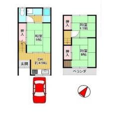 3DK {building type} in Dejimacho - Sakai-shi Sakai-ku Floorplan