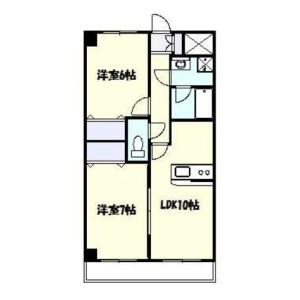 2LDK Mansion in Kuji - Kawasaki-shi Takatsu-ku Floorplan