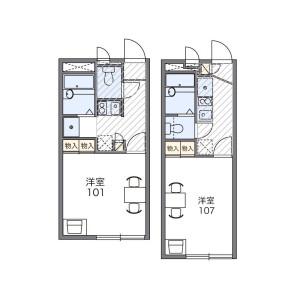 1K Apartment in Hirasaku - Yokosuka-shi Floorplan