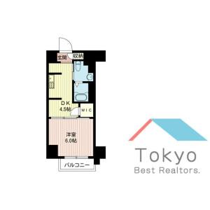 港區西新橋-1DK公寓大廈 房間格局
