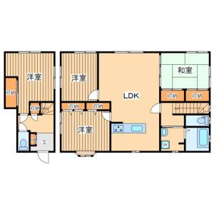4LDK Terrace house in Kubocho - Yokohama-shi Nishi-ku Floorplan
