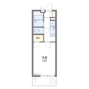 1K Mansion in Miyacho - Saitama-shi Omiya-ku Floorplan