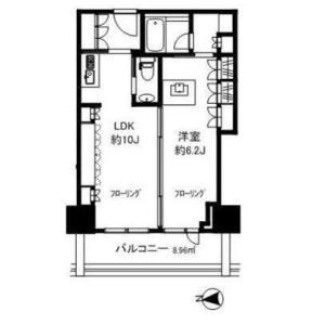 港区麻布十番-1LDK公寓大厦 楼层布局
