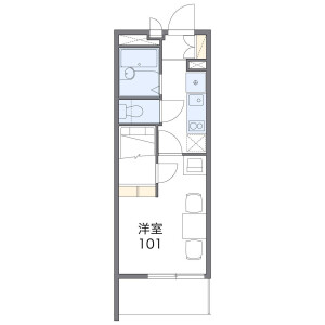 1K Mansion in Tamatsu - Osaka-shi Higashinari-ku Floorplan