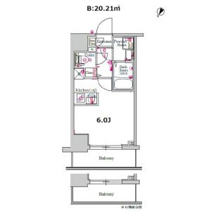 1R Mansion in Hamamatsucho - Yokohama-shi Nishi-ku Floorplan