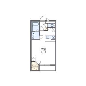 1K 아파트 in Ikebukurohoncho - Toshima-ku Floorplan