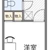 在堺市堺区内租赁1K 公寓大厦 的 楼层布局