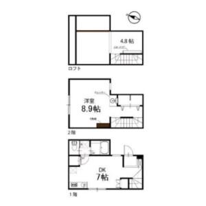 1DK Terrace house in Kitaminemachi - Ota-ku Floorplan