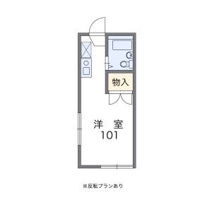 1K 아파트 in Izumicho - Nishitokyo-shi Floorplan