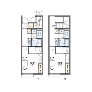 1K Apartment in Ureshino nakagawacho - Matsusaka-shi Floorplan