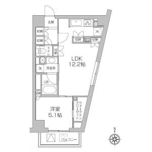 1LDK Mansion in Koenjiminami - Suginami-ku Floorplan