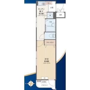 1K {building type} in Arai - Nakano-ku Floorplan