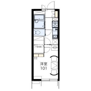 1K Mansion in Toyodai - Fukuyama-shi Floorplan