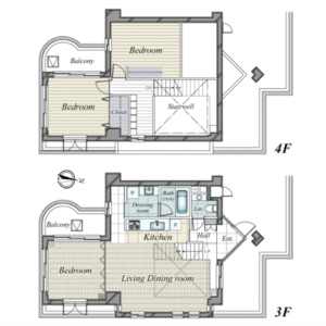 3LDK {building type} in Tsurumaki - Setagaya-ku Floorplan