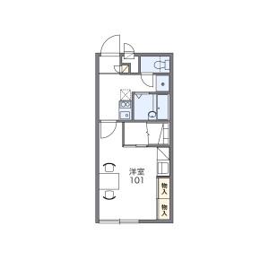 1K Apartment in Higashinakaburi - Hirakata-shi Floorplan