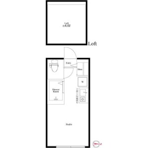 1R Apartment in Osone - Yokohama-shi Kohoku-ku Floorplan
