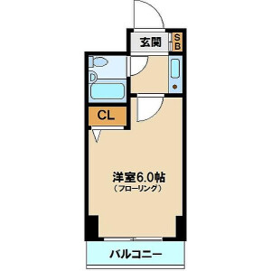 1K {building type} in Takadanobaba - Shinjuku-ku Floorplan