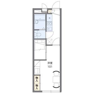 千葉市稲毛區小中台町-1K公寓 房間格局
