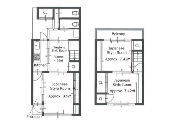 4K House to Buy in Kyoto-shi Higashiyama-ku Floorplan
