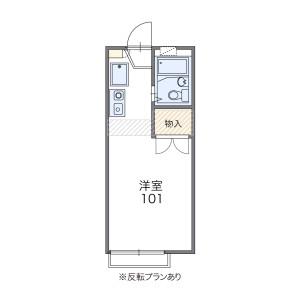 1K Apartment in Akebonocho - Tachikawa-shi Floorplan