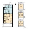 1K Apartment to Rent in Suginami-ku Layout Drawing