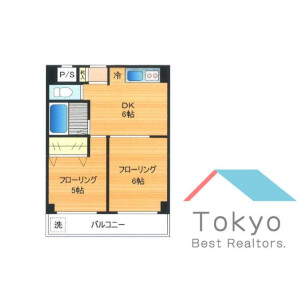 2DK Mansion in Chuo - Nakano-ku Floorplan