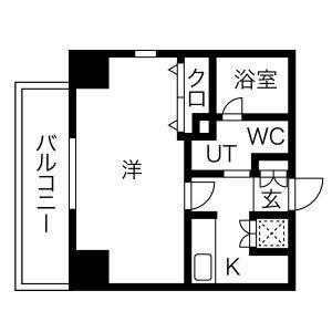 1K Mansion in Ibukacho - Nagoya-shi Nakamura-ku Floorplan