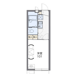 横浜市中区本牧緑ケ丘-1K公寓 楼层布局