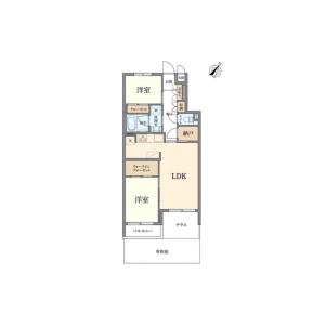2LDK {building type} in Ookayama - Meguro-ku Floorplan