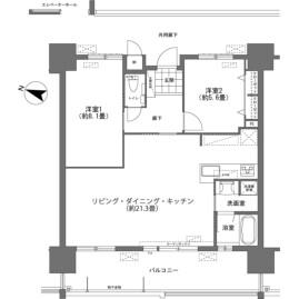 2LDK {building type} in Makishi - Naha-shi Floorplan