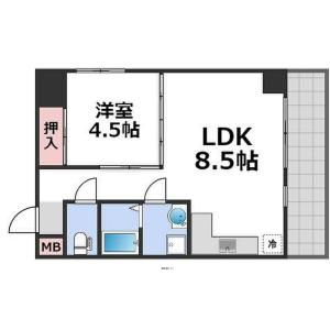 1LDK Mansion in Shinimazato - Osaka-shi Ikuno-ku Floorplan