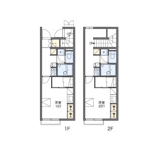 1K Apartment in Kamiishiwara - Chofu-shi Floorplan