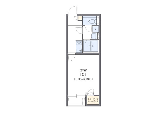 1K Apartment to Rent in Osaka-shi Higashinari-ku Floorplan