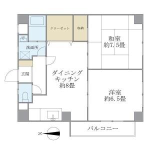 2DK Mansion in Funado - Itabashi-ku Floorplan