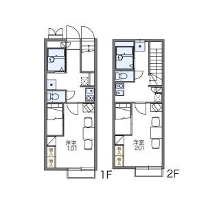 1K Apartment in Tsudanuma - Narashino-shi Floorplan