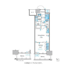 1DK Mansion in Toyosu - Koto-ku Floorplan