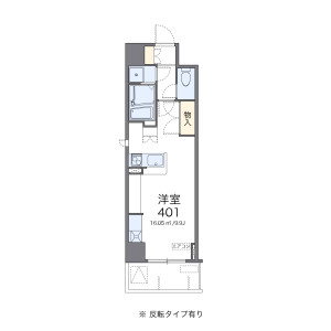 1R Mansion in Honcho - Funabashi-shi Floorplan