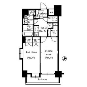 2K Mansion in Kuramae - Taito-ku Floorplan