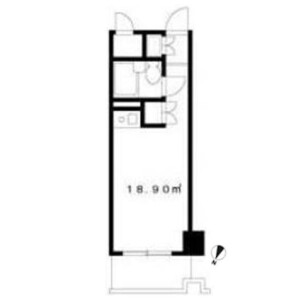 1R {building type} in Sendagaya - Shibuya-ku Floorplan