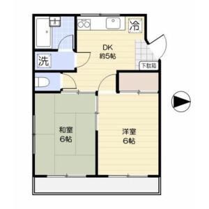 2DK 맨션 in Toyotamakita - Nerima-ku Floorplan