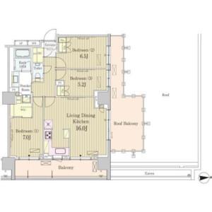 3LDK Mansion in Higashigotanda - Shinagawa-ku Floorplan