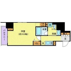 1K 맨션 in Roppongi - Minato-ku Floorplan